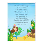 "Mermaid on Green Seahorse Birthday 5"" X 7"" Invitation Card"