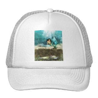Mermaid on Ocean Floor  Baseball Hat