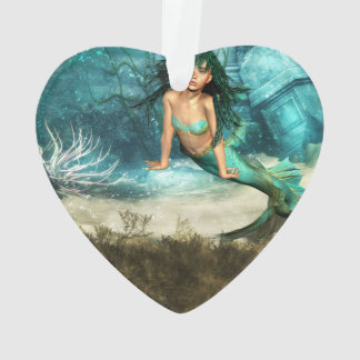 Mermaid on Ocean Floor Ornament