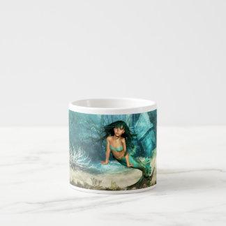 Mermaid on Ocean Floor Specialty Mug Espresso Cups