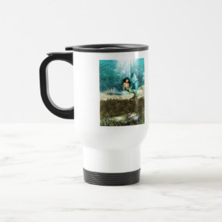 Mermaid on Ocean Floor Travel Mug