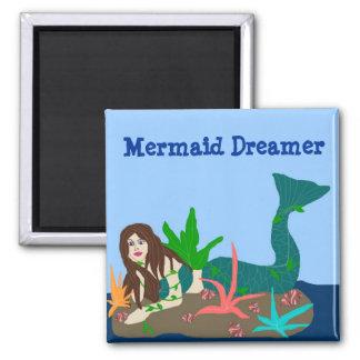 Mermaid on rock, Mermaid Dreamer magnet