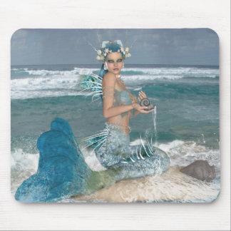 Mermaid on Rock Mouse Pad
