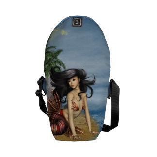 Mermaid on the Beach Messenger Bags