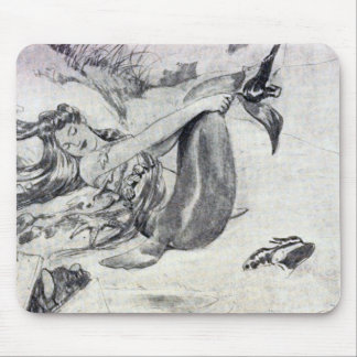 Mermaid on the Beach Mouse Pad