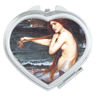 Mermaid On The Shore Mirror For Makeup