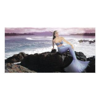 Mermaid On The Shore photo card
