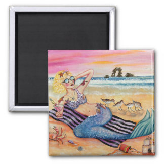 Mermaid on Vacation Magnet