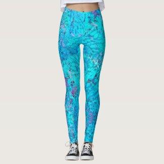 Mermaid: Onahau, Blue Chill, Lilac, Cloud Burst Leggings