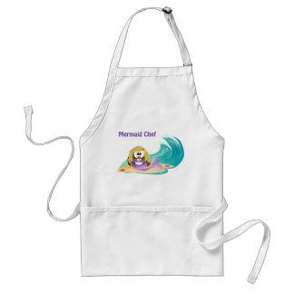 mermaid owl adult apron