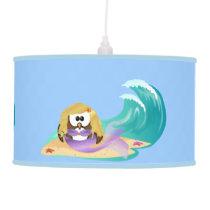 mermaid owl hanging lamp