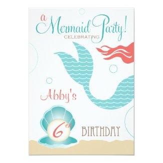 Mermaid Party | Birthday Invitations