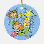 Mermaid Party Christmas Ornaments