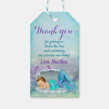 Toddler & Baby themed Mermaid Party Favor Under the Sea Thank You Tags