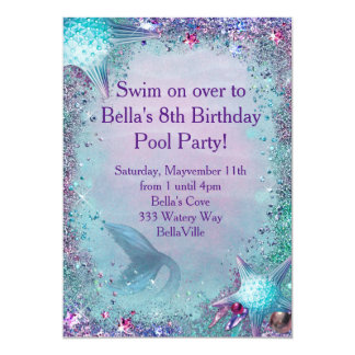 mermaid party invitations  announcements  zazzle, invitation samples