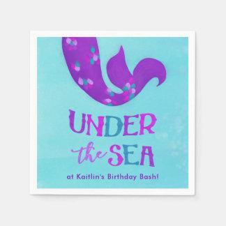 "Mermaid Party Napkins ""Under the Sea"""