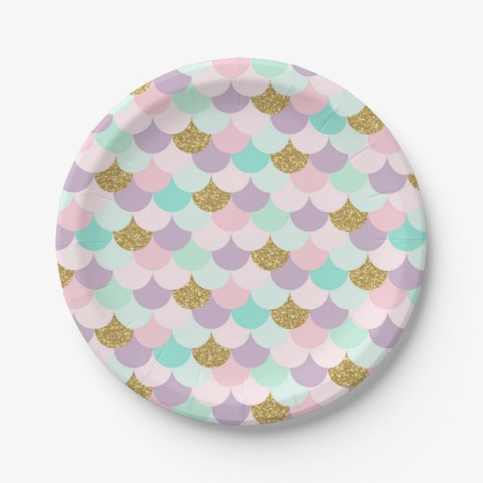 Mermaid Party Paper Plates Under the sea | Zazzle.com