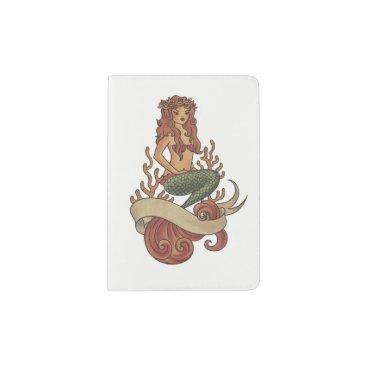 Beach Themed mermaid passport holder