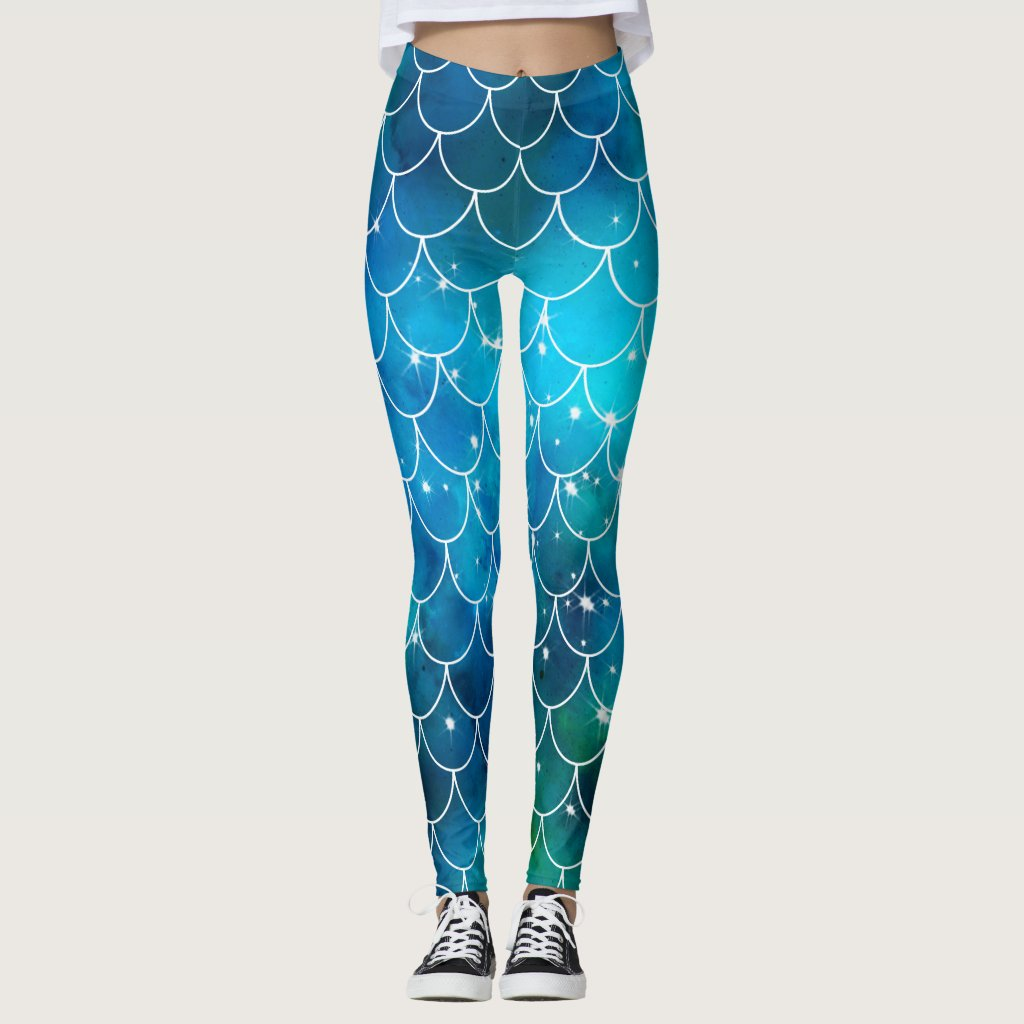Mermaid Pattern Leggings