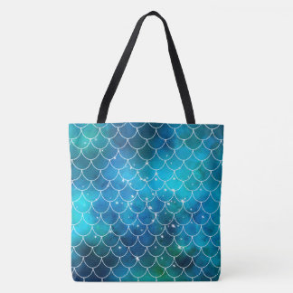 Mermaid Pattern Tote Bag
