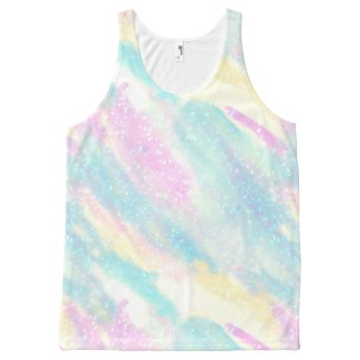 Mermaid: Peppa Pink, Onahau & Spring Sun All-Over-Print Tank Top