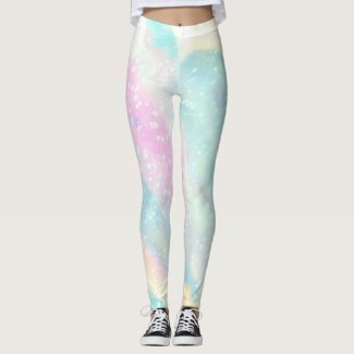 Mermaid: Peppa Pink, Onahau, & Spring Sun Leggings
