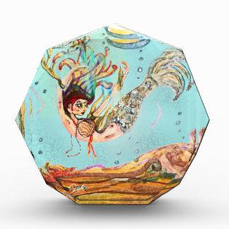 Mermaid Performs Acrylic Award