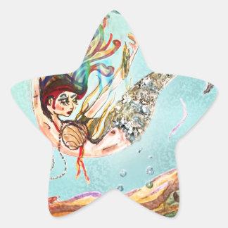 Mermaid Performs Star Sticker