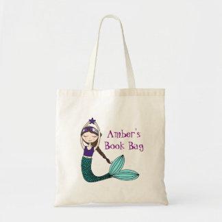 Mermaid, personalised book bag