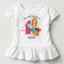 Mermaid Personalized Birthday Toddler T-shirt