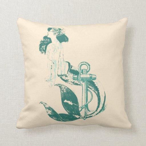 Mermaid Decorative Pillows : Mermaid Pillows Zazzle