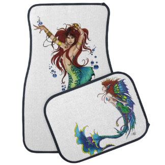 Mermaid Pin-Up Car Floor Mat