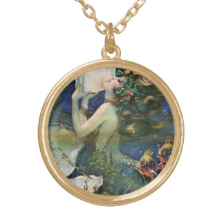 Mermaid Pin Up Girl Vintage Art Personalized Necklace