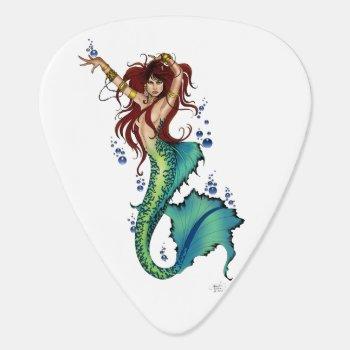 Mermaid Pin-up Guitar Pick by tigressdragon at Zazzle