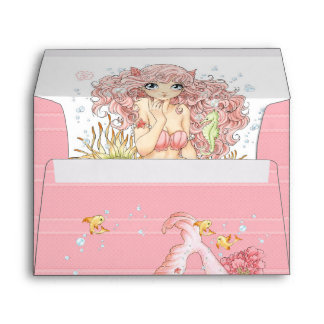 Mermaid (pink) envelope