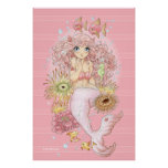 Mermaid (pink) poster