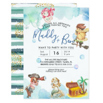 Mermaid & Pirate | Joint Pool Party Invitation