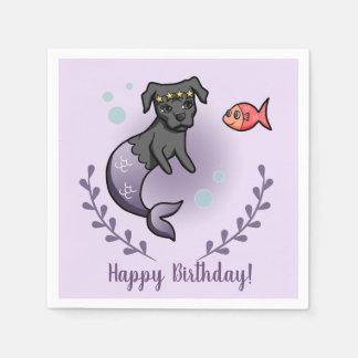 Mermaid Pit Bull 2 Birthday Napkin