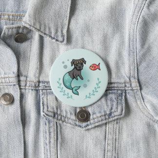 Mermaid Pit Bull Button