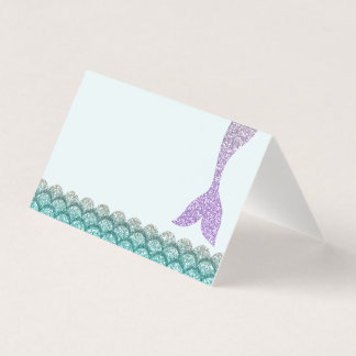 Mermaid Place Cards • Under the Sea Tent Cards