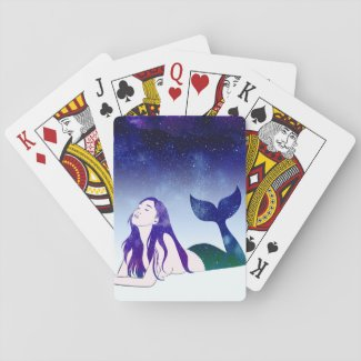 Mermaid Playing Cards - A Starry Siren