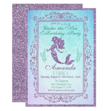 PaperandPomp Mermaid Pool Party Birthday Invitation 5 x 7