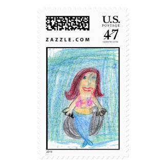 mermaid postage