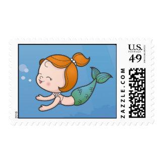 Mermaid Postage Stamp