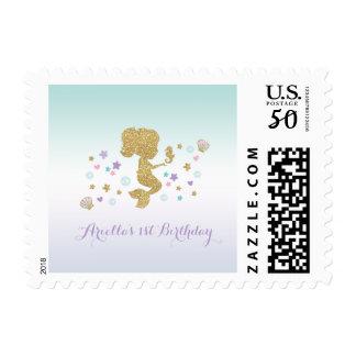 Mermaid Postage Stamp Unicorn Party Under The Sea