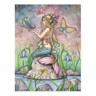 Mermaid Postcard, Creekside Magic
