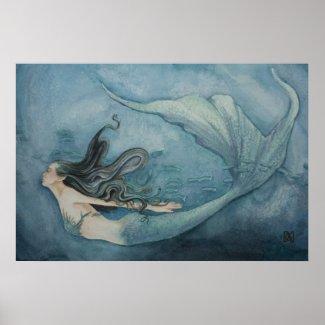 Mermaid Poster zazzle_print