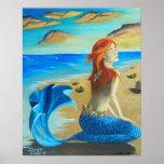 Mermaid Poster Siren Poster Beach Mermaid
