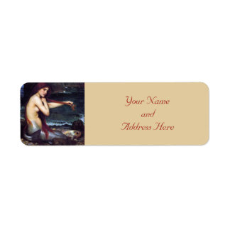 Mermaid Pre-Raphaelite  Return Address Labels