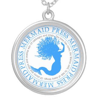 Mermaid Press Round Pendant Necklace